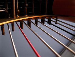 Harp Strings Vertical by OneofakindKnight