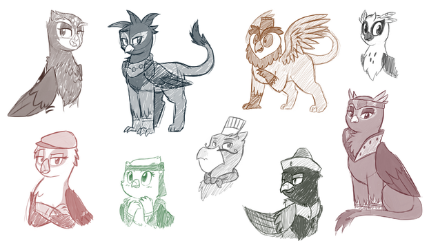 Griffon Sketches by Chipflake