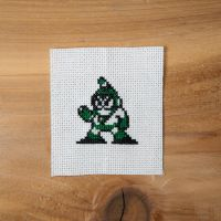Megaman - Bubbleman xstitch by flavialee