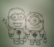 WIP Despicable me:Minions by waffle-faceXD