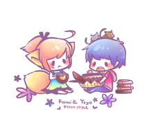 [ Foxmi Style ] Chocolate foxmi and yoyo by Foxmi