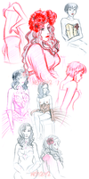 Dr.Sketchy Sketches Feb 2012 by tea-bug