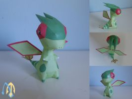 Flygon chibi papercraft by aquametal