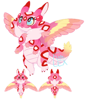 Papilli the Mothdragon [reference] by Fumi-LEX