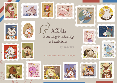 acnl stamp stickers by desupon