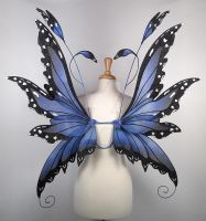 Fairy Wings in Blue Morpho Butterfly pattern by glittrrgrrl