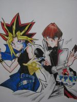 Yugi and Kaiba by TheGaboefects