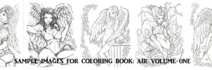 COLORING BOOK SAMPLE PAGES AIR by rantz