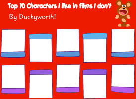 Top 10 Characters I Like In Films I Don't Blank by Duckyworth