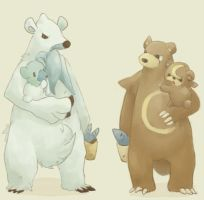 Ursarang and Beartic by Sora-Prince