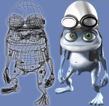 Crazy frog Malla Illustrator by LAUREANORAVER