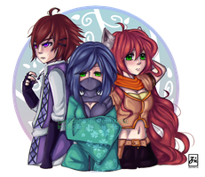 [Commission]: Kore | Boone | Sheila by ZeonXeria