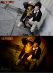 Amnesia Cosplay -Photoshop Before and After- by yellow-cake