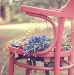 chair full of flowers by malenka740715