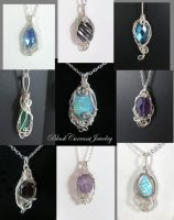 Polar Vortex collection by blackcurrantjewelry