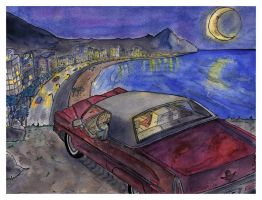 Night Over Copacabana.- by themaninthehatart