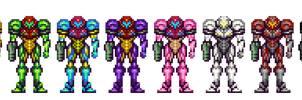 Samus Aran - Power Suit Alts by ninboy01