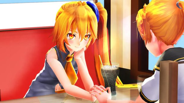 Neru and Len by SaltyyNaCl