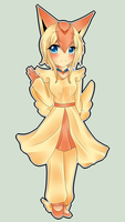 Victini gijinka by harmpink456