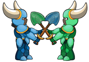 Commission: Two knights by Chaos55t