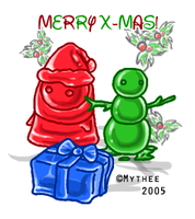 Merry christmas Jellies :D by Mythee