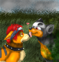 Love: surprise sweet kiss by timmy-gost