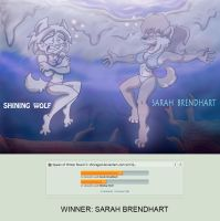 Queen of Winter Round 3: Shining Wolf vs Sarah by shinragod