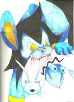 Luxio is Biting that Barboach by guilleum2