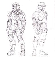 Human troopers lineart by Gin-sensei