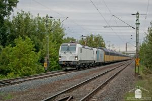 193 814 and 185 636 with a freight train in Gyor by morpheus880223