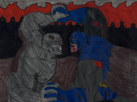 Batman vs Mutant Leader by ElvisPresleyFan3577