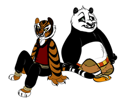 The Tiger and the Dragon Warrior by Wolf-Chalk
