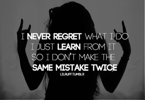 Never Regret Just Learn by IceyCheese