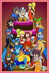 Happy 25th Anniversary, Mega Man! by TuxedoMoroboshi