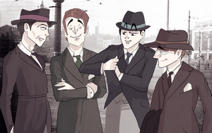 The Beatles in 20's- For Lollo-hehe by Jim-the-Oni