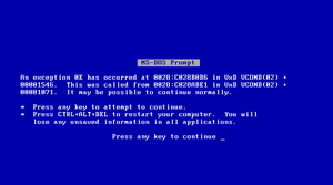 Blue Screen of Death by GassyGiant
