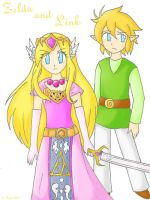 Zelda and  Link.. by SparxPunx