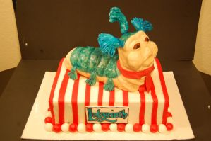 Worm from Labyrinth cake by soup1335