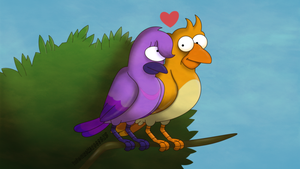 Lovebirds by TheFightingMongooses