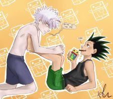 Killua the Chocorobot-obsessed by Sango94