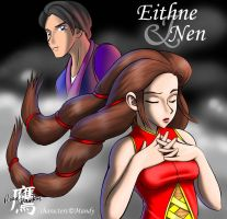 Mandy's Eithne and Nen by thelaserhawk