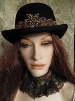 Steampunk-Victorian bowler PCSH23 by JanuaryGuest