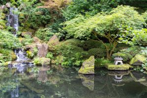 Portland Oregon Japanese Garden by ringmale