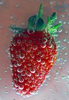 strawberry bubbles by GemmaGreen