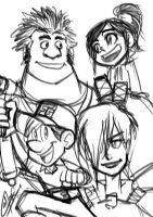 Wreck-it Ralph fast sketch by eisu