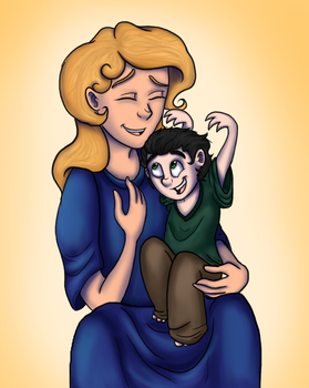 Loki And Frigga  by Doodlinjaz