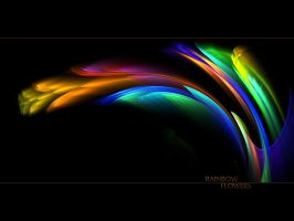 Rainbow Flowers - WP - No.5 by denise-g