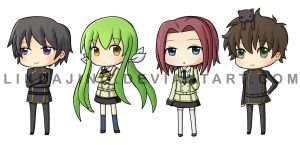 Code Geass Chibi Set by Lindajing