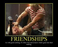 Friendships Motivational Poster by DaVinci41