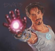 Tony Stark - Iron Man by CurlyJul